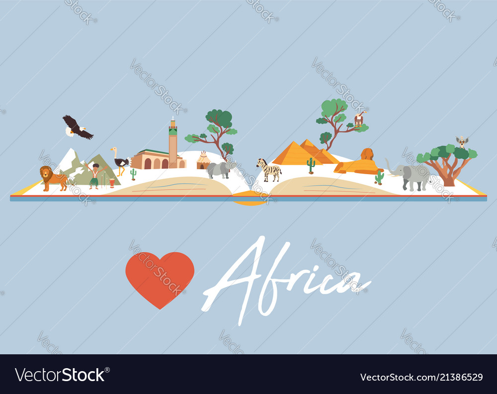 Book with famous destination of africa