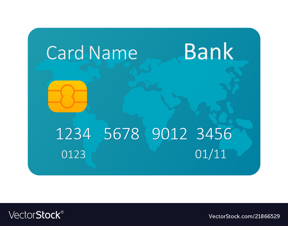 Credit card isolated on white