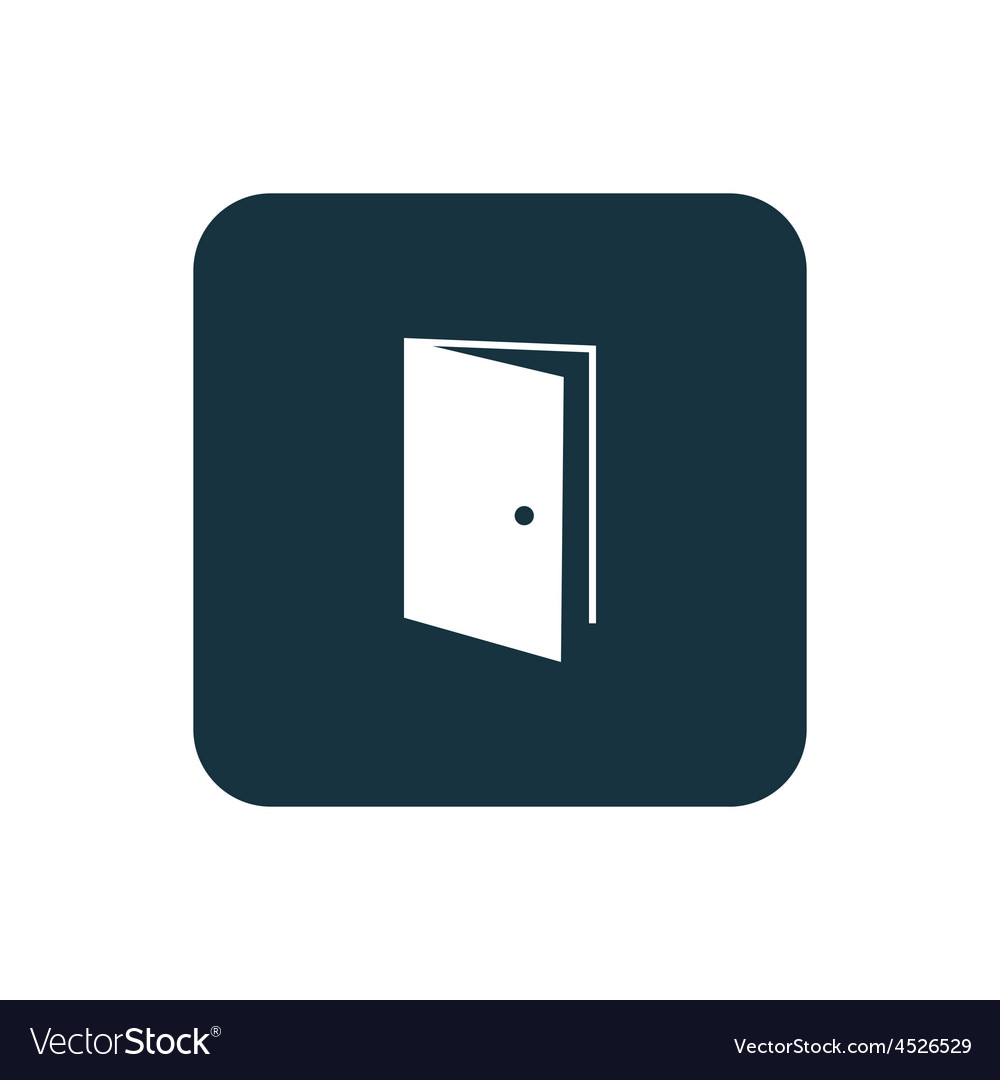 Open door icon Rounded squares button vector image  sc 1 st  VectorStock & Open door icon Rounded squares button Royalty Free Vector