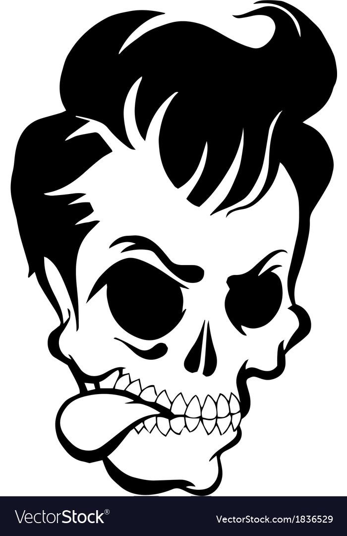 Pompadour Skull