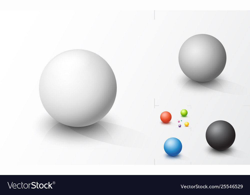 Set colored spheres