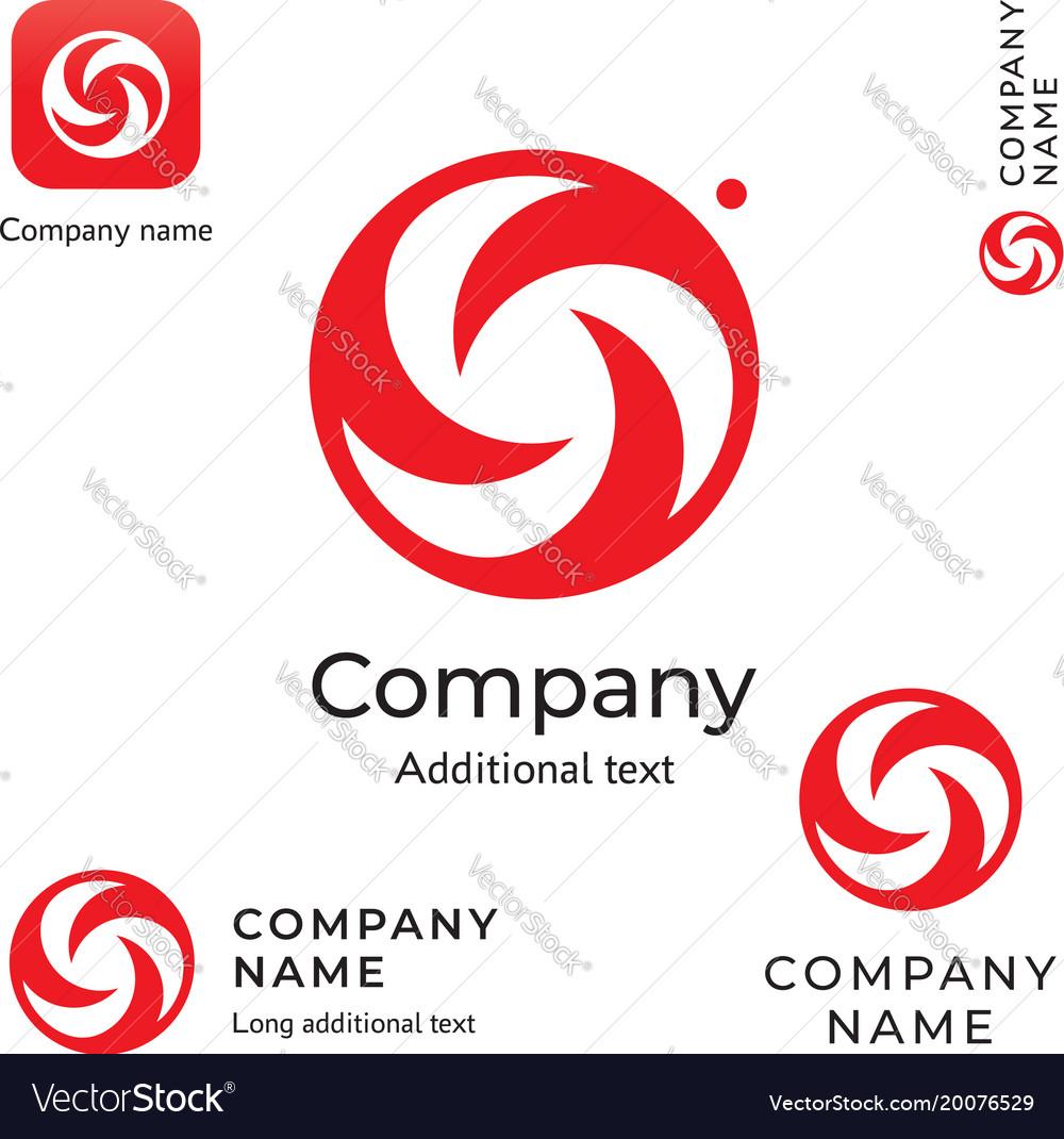 Swirl creative logo modern and stylish beauty vector image