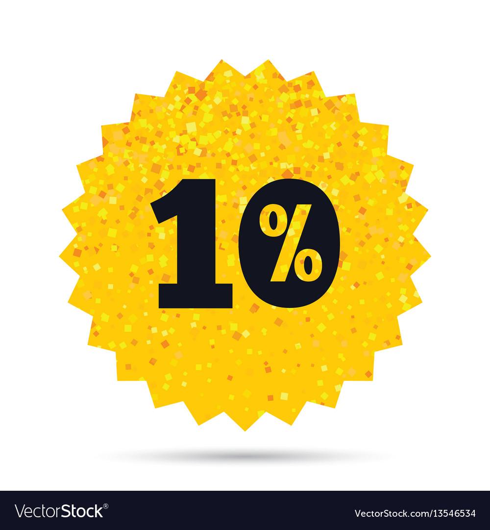 10 percent discount sign icon sale symbol