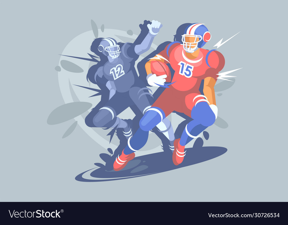 American football sports event a football player