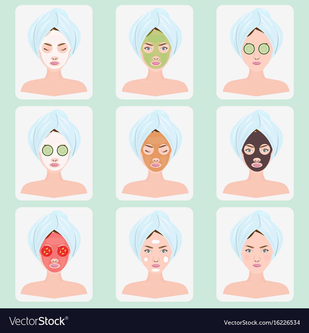 Beautiful woman with facial mask