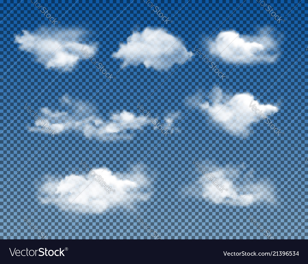 Different types realistic clouds