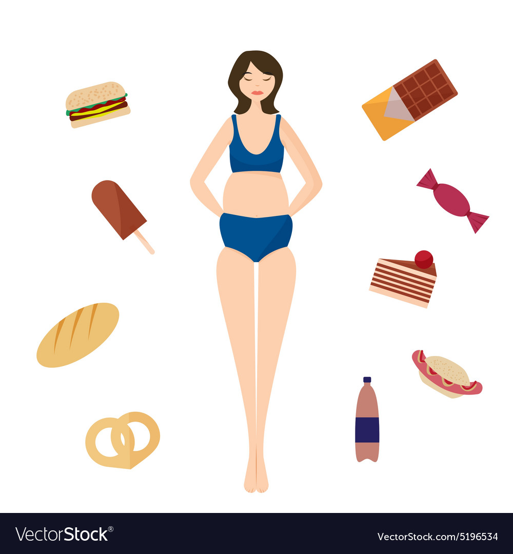 Full girl Bad habits vector image