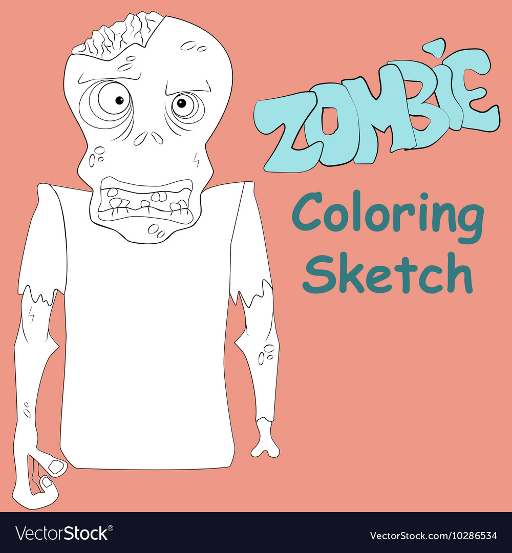 Zombie coloring sketch