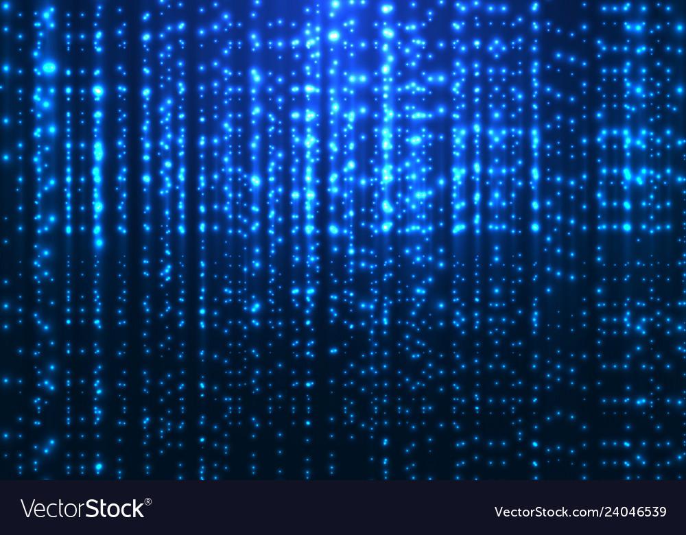 Abstract matrix technology blue magic sparkling
