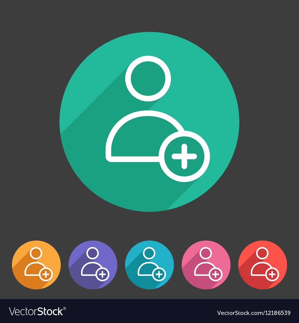 Add user avatar icon flat web sign symbol logo