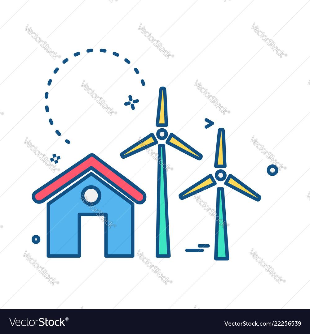 Air turbine icon design