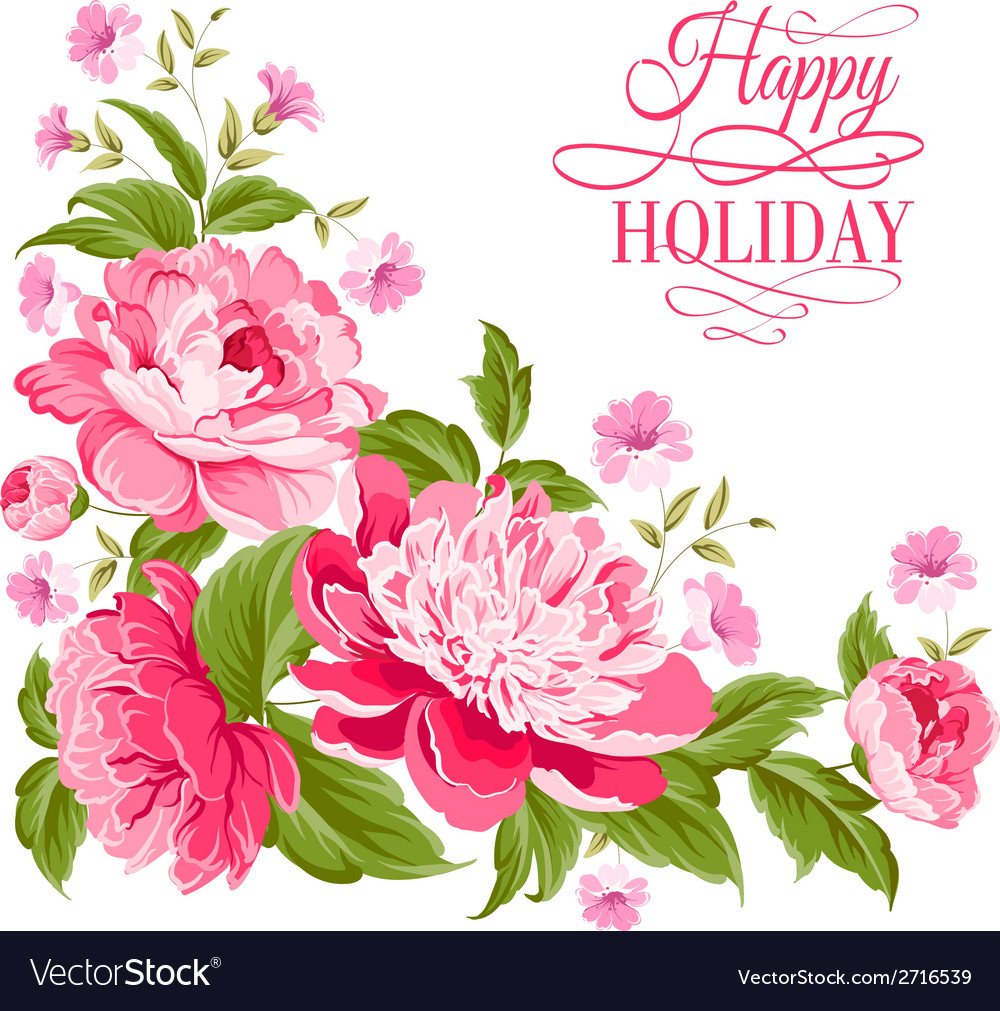 Beautiful Peonies Vector Image