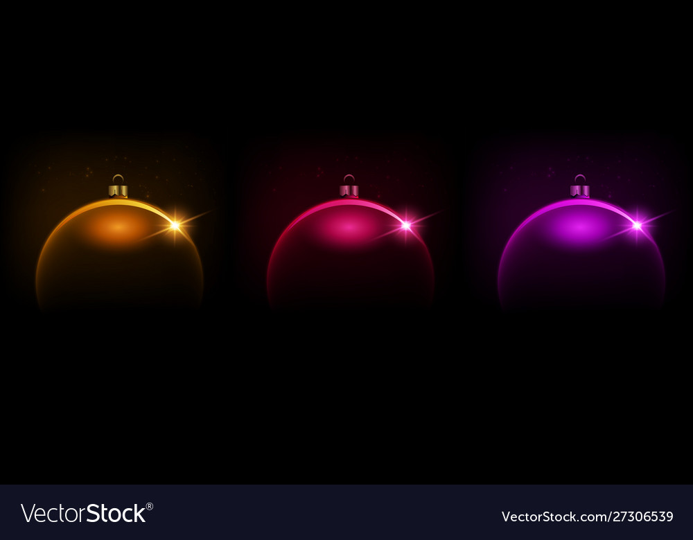 Black shiny christmas background with bauble