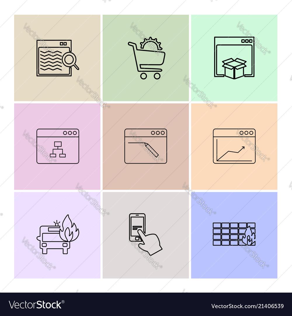 cart dropbox windows ui layout web user royalty free vector