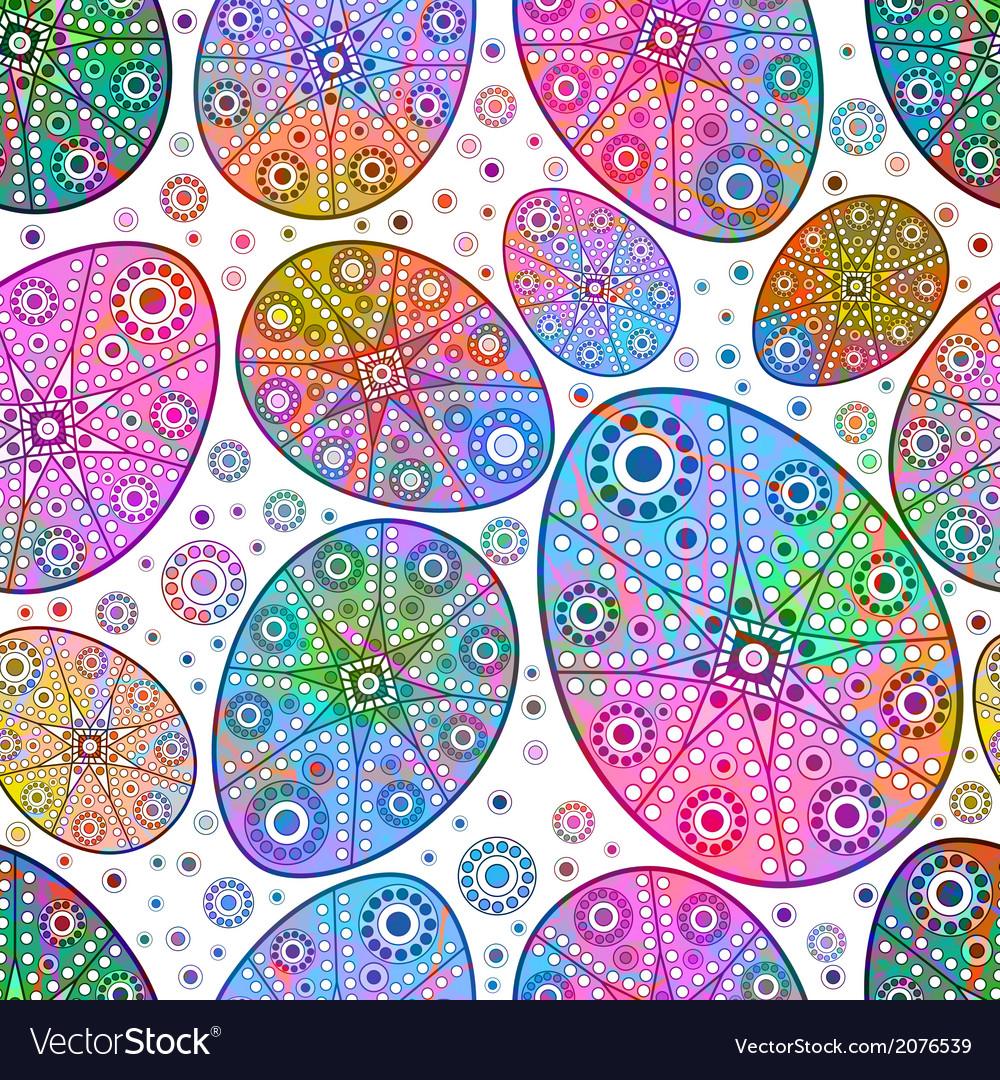 Easter egg seamless pattern EPS 10