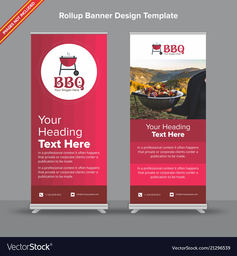Gradient rollup banner in cherry shades