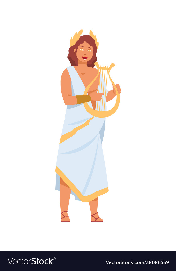 Greek god apollo cartoon ancient greece deity