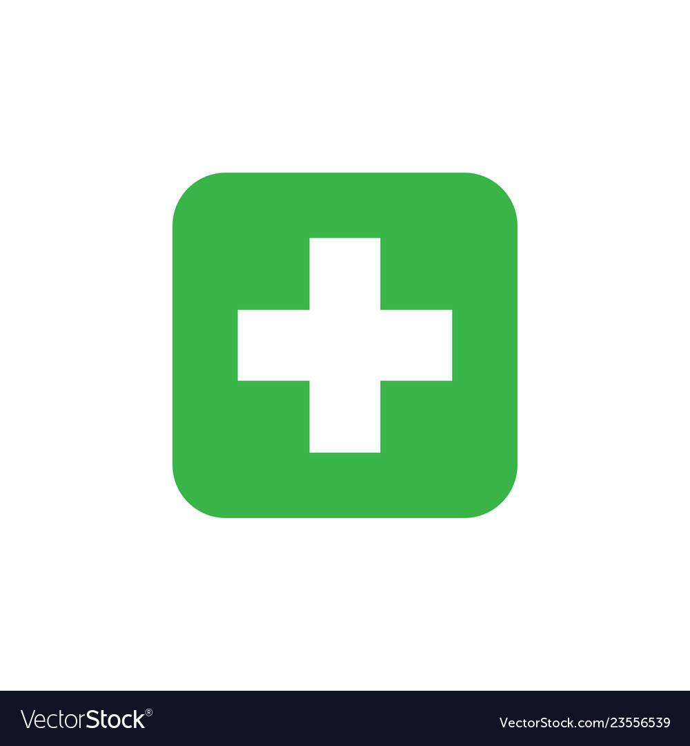 Healthcare cross icon graphic design template