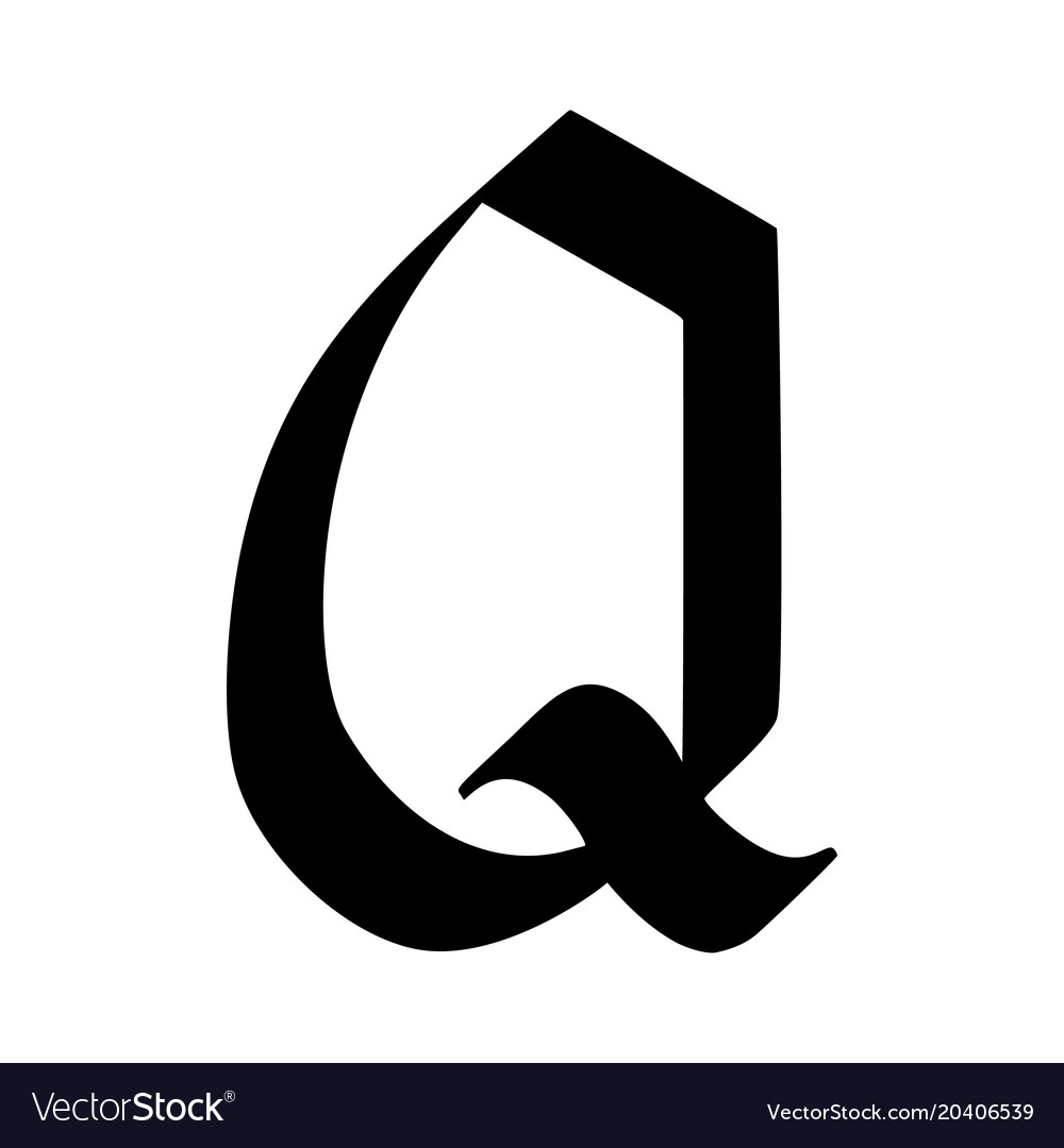 letter q painted brush royalty free vector image