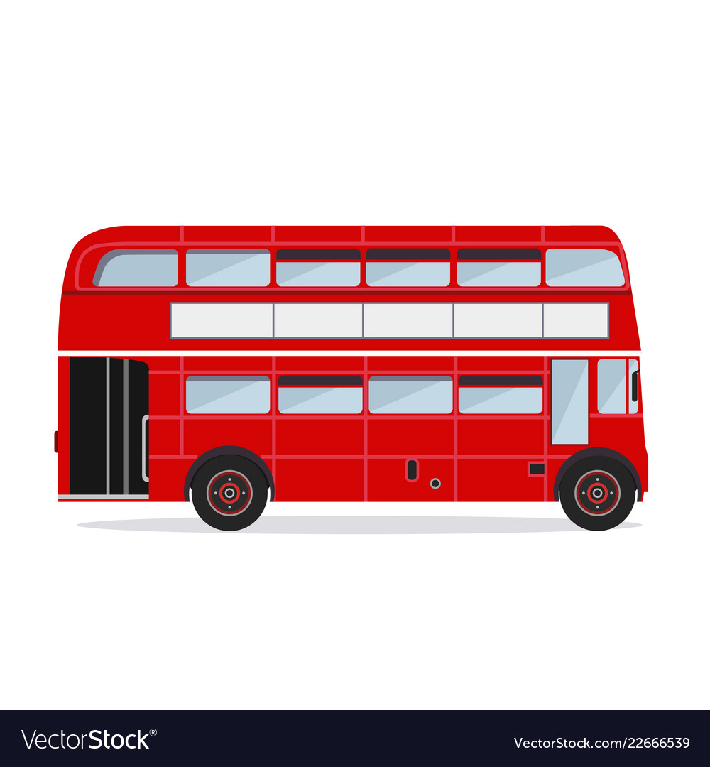London buses colored silhouette
