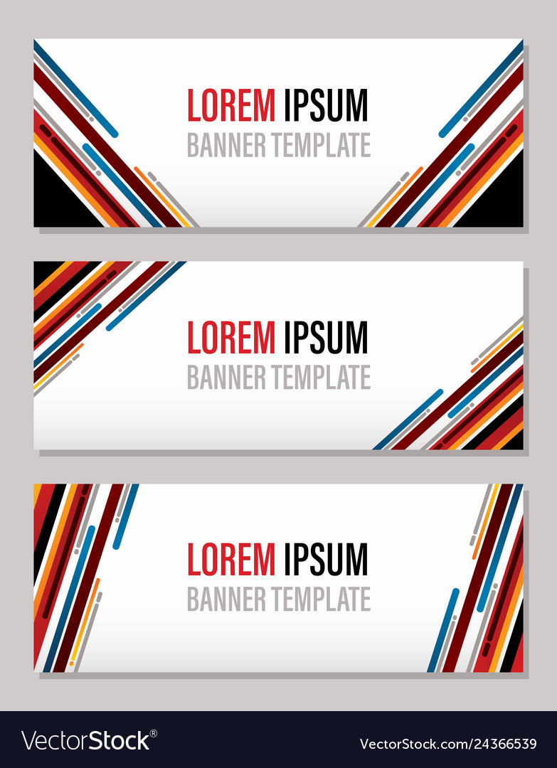 Modern abstract banner template website banner