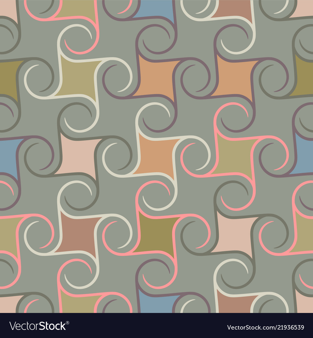 Retro repetitive wallpaper - vintage pattern
