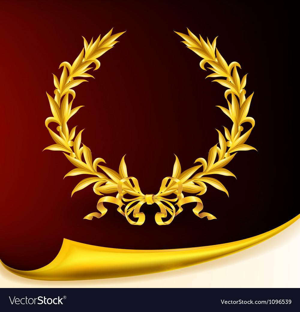 Rich golden wreath