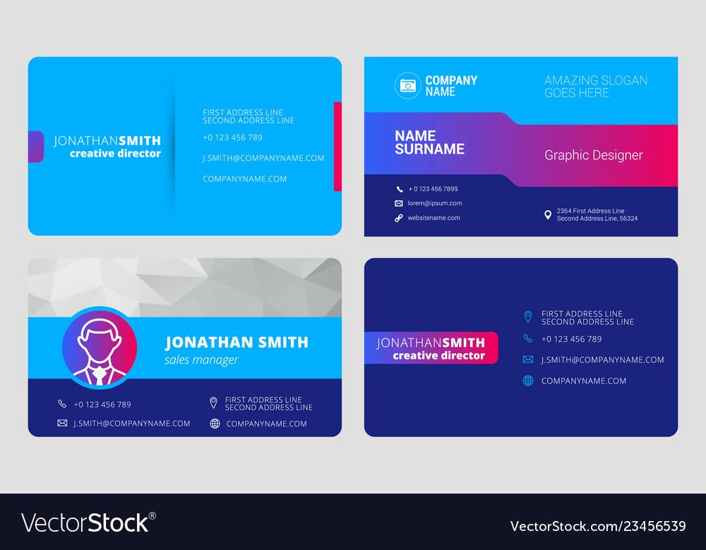 Set business card templates stationery design