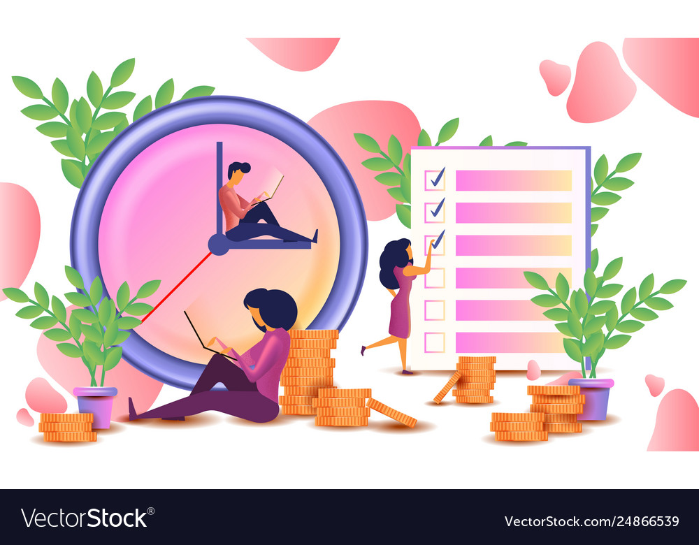 Time management concept planning organization
