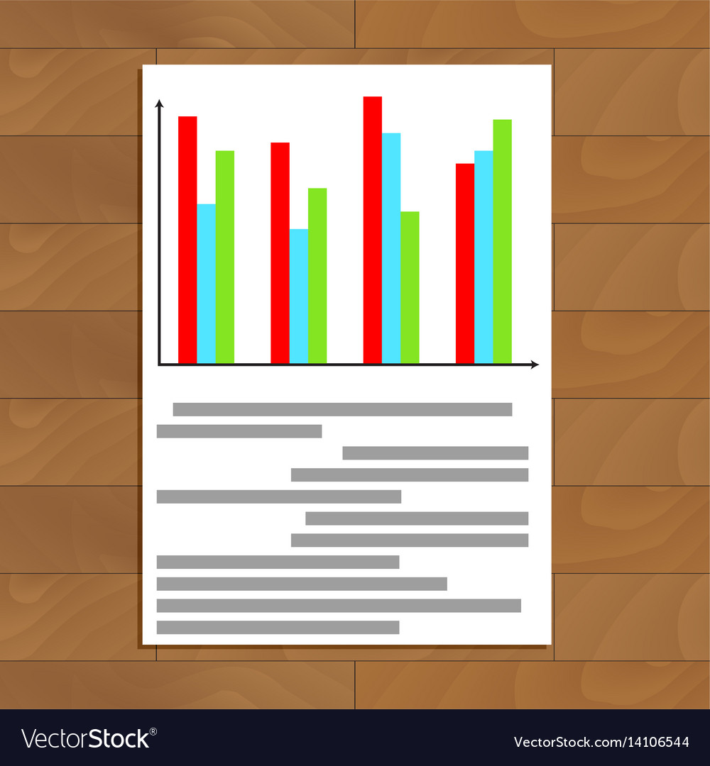 Colored Chart Info Royalty Free Vector Image Vectorstock