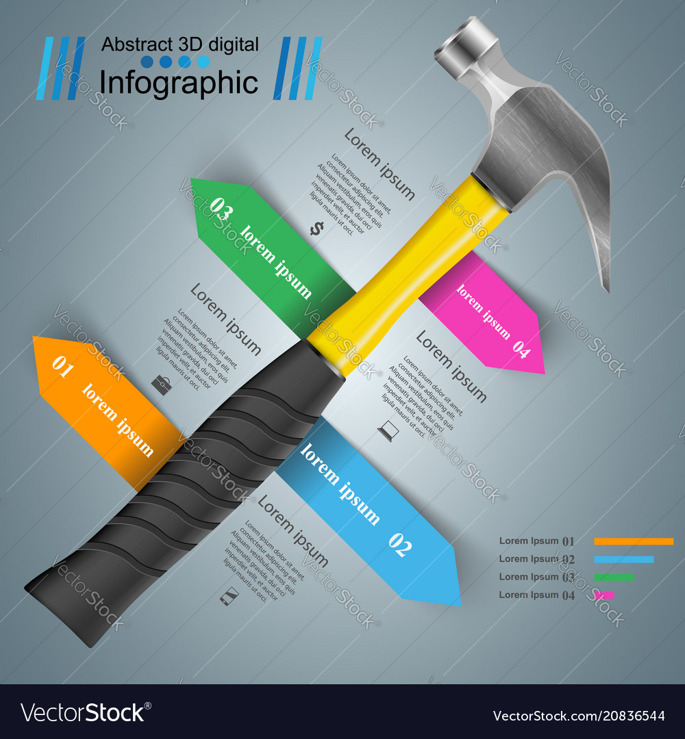 Hammer recovery and repair business infographics