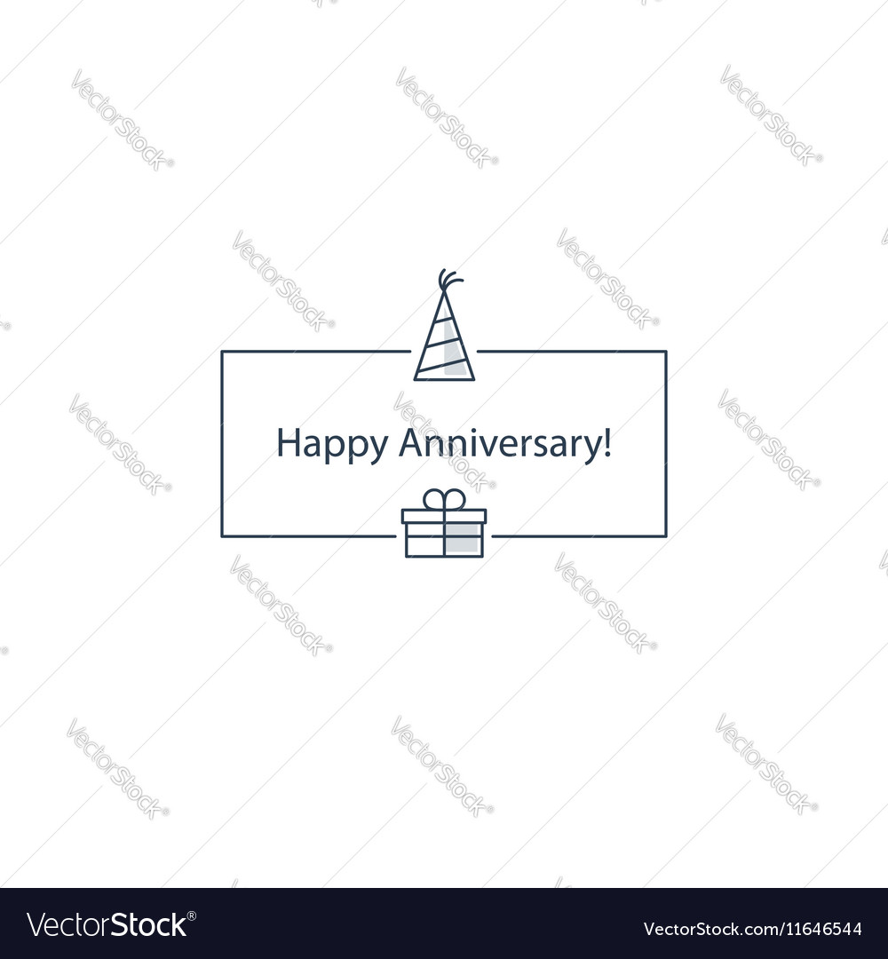 Happy anniversary celebration card