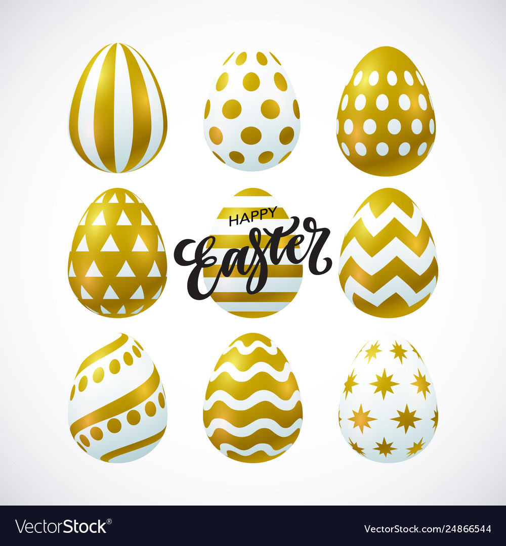 Happy easter card with 3d decorative eggs
