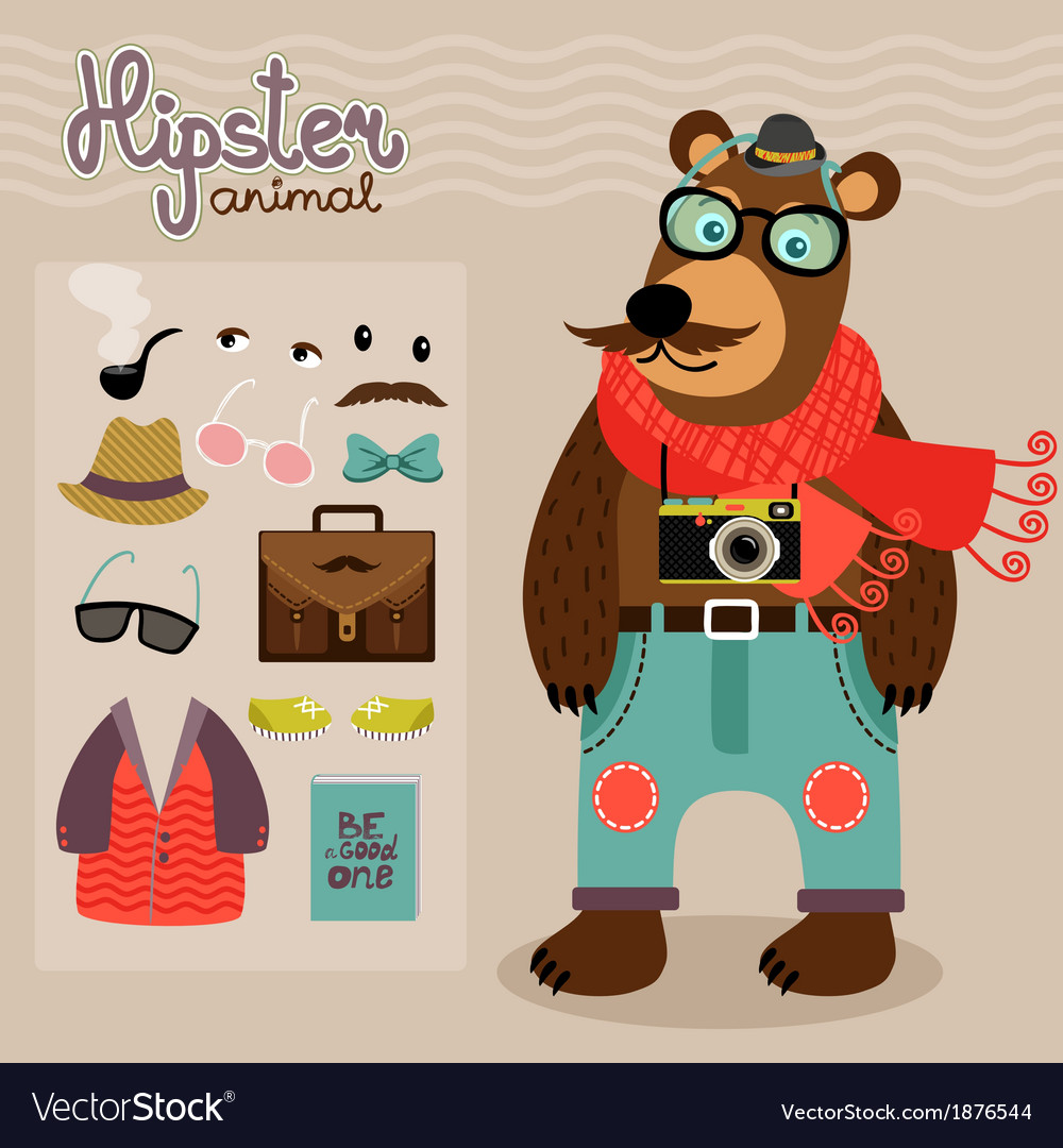 Hipster pack for animal teddy bear
