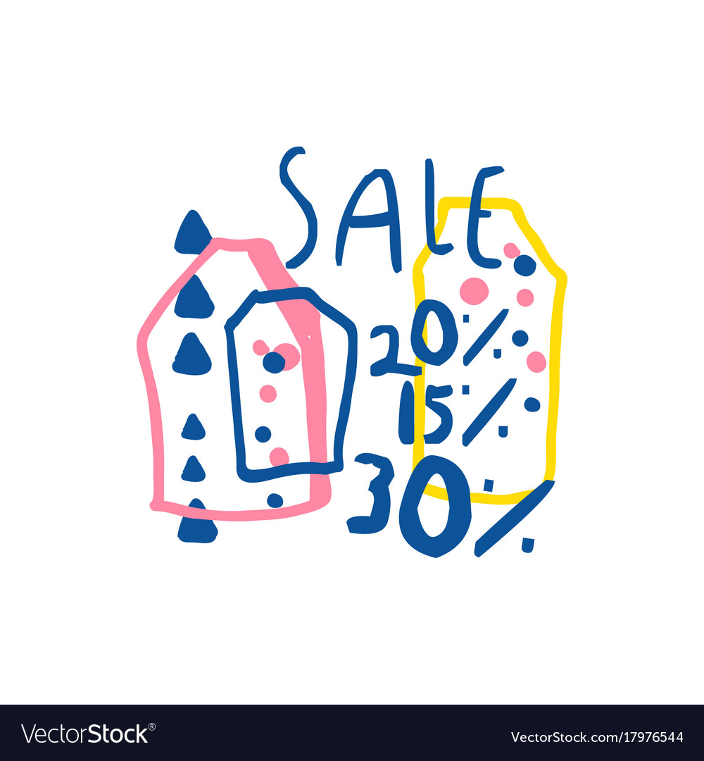Sale 15 20 30 percent off logo template special