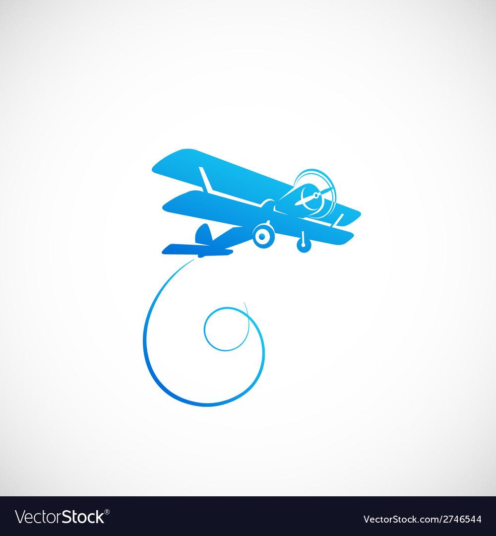 Vintage Plane Symbolo Icon or Logo Template vector image