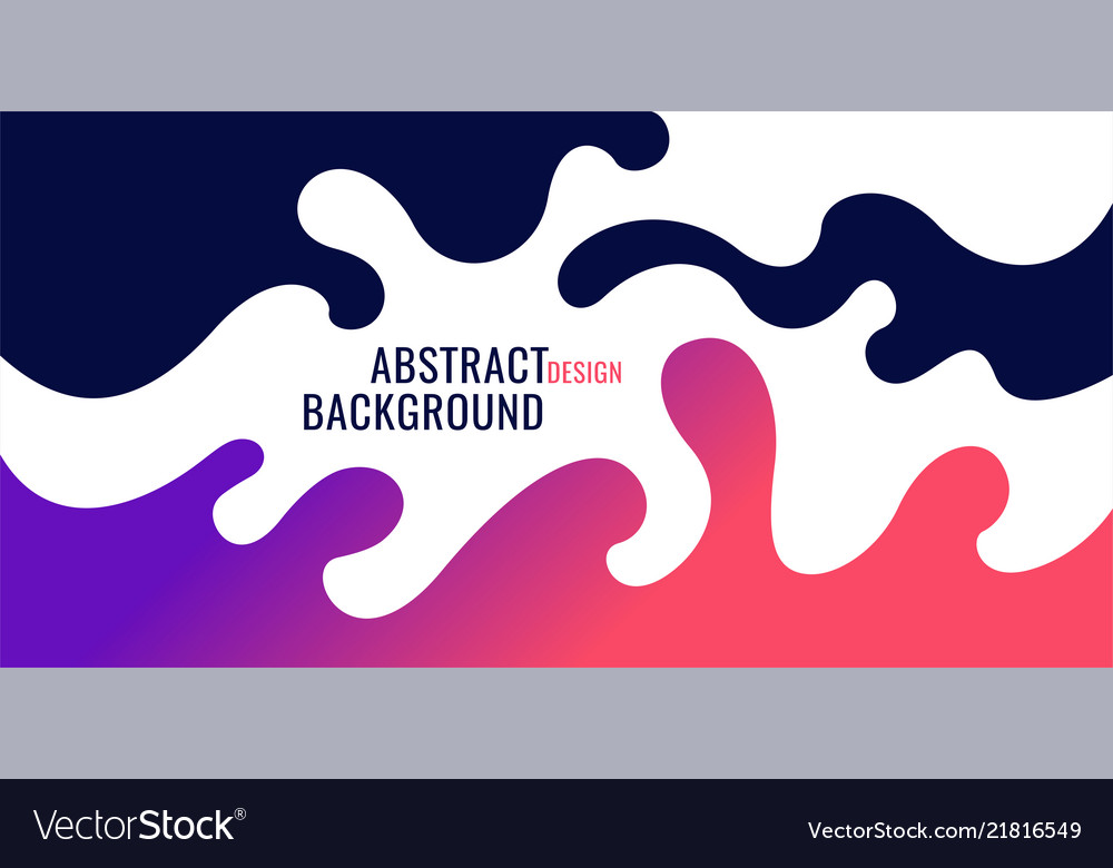 Bright poster with dynamic waves