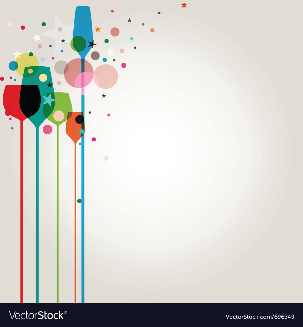 lets party background royalty free vector image