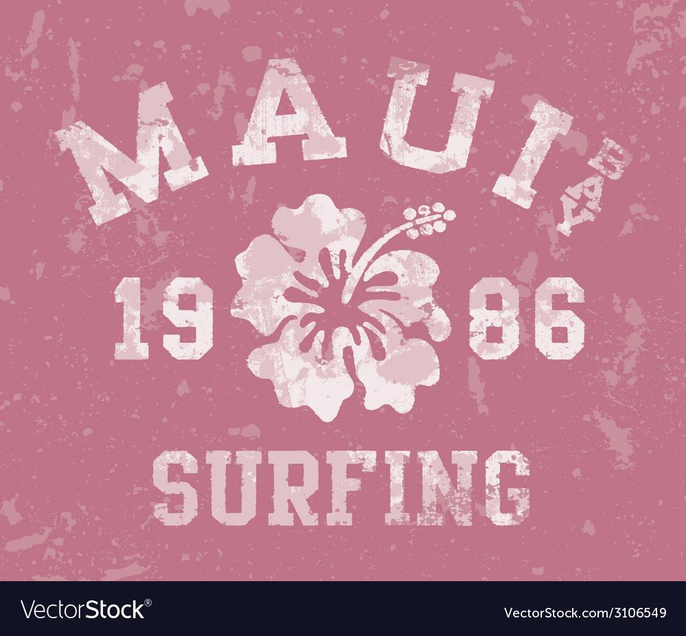 Maui bay surfing