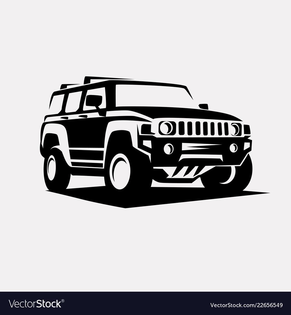 Modern suv logo template offroader car stylized