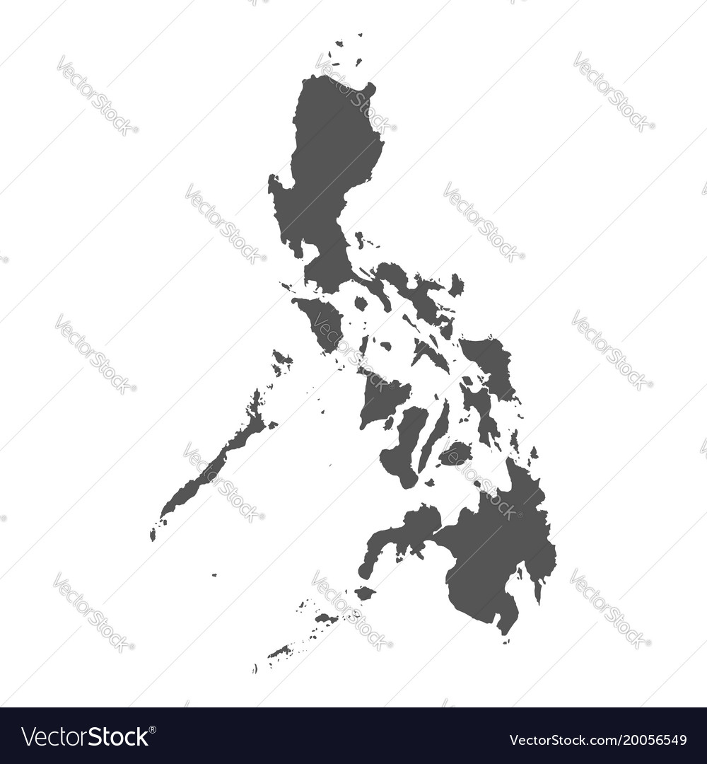Philippines map black icon on white background vector image gumiabroncs Images