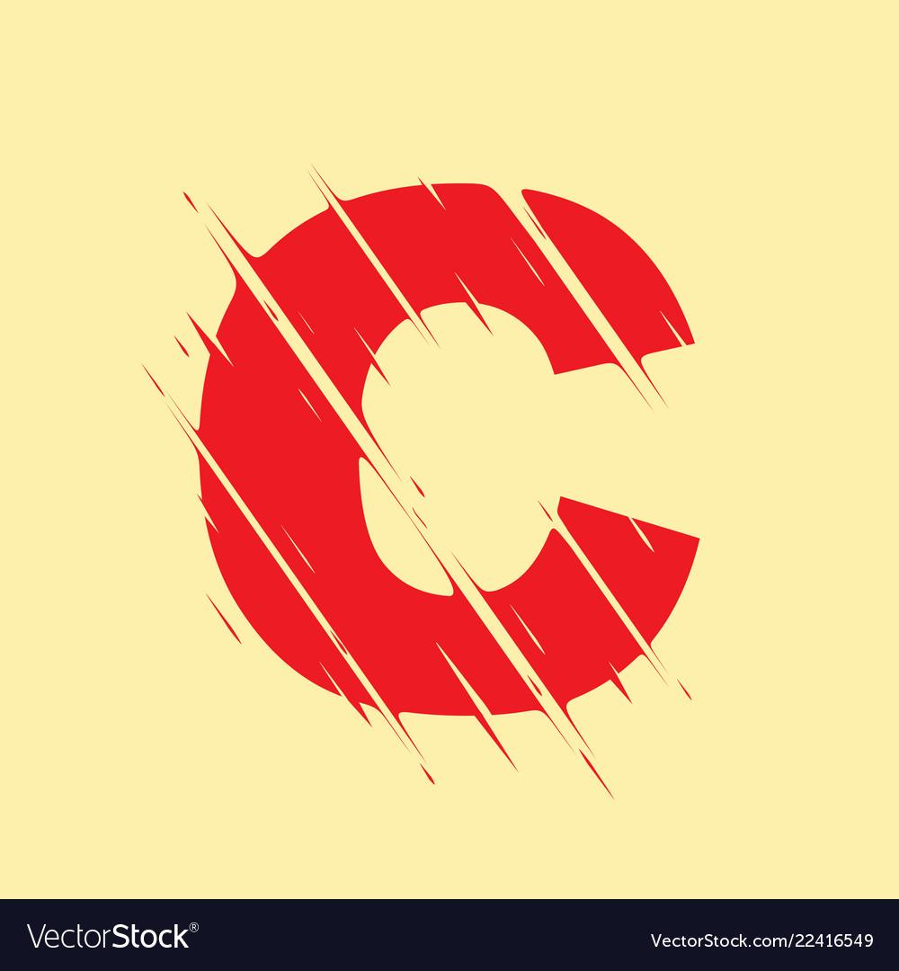 Scribbled letter c