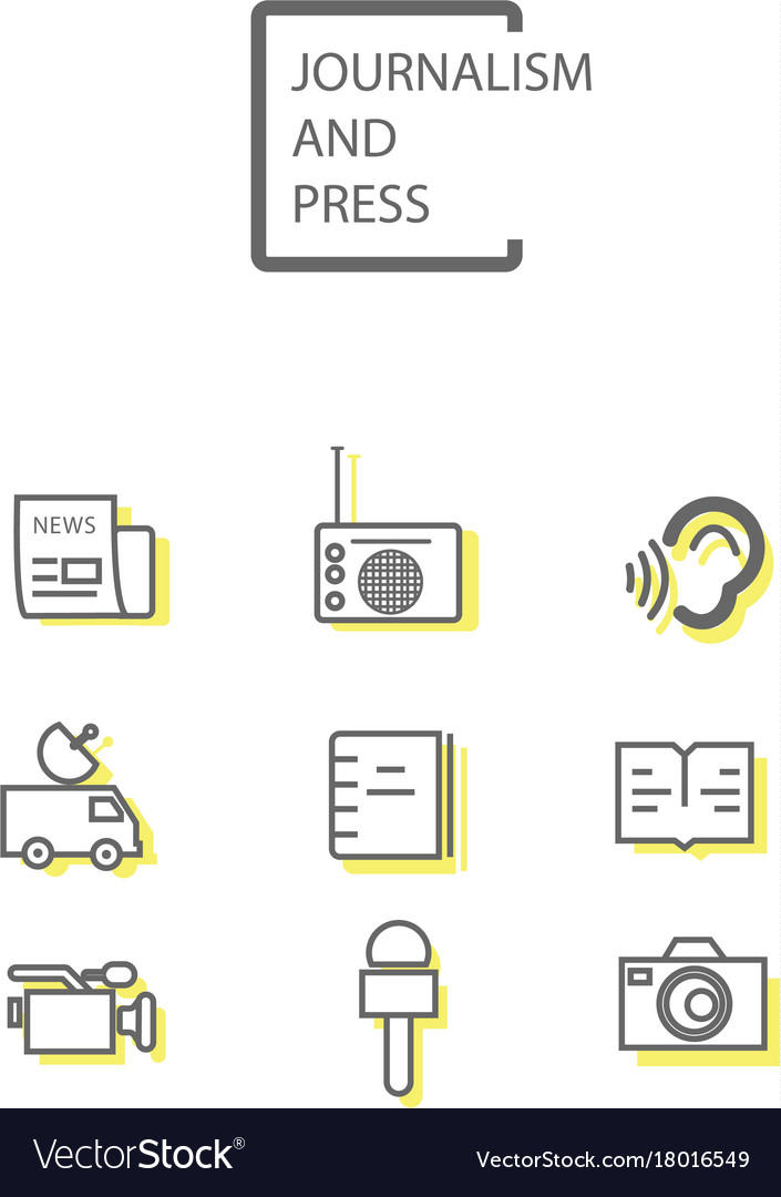 Simple journalism and press icon vector image