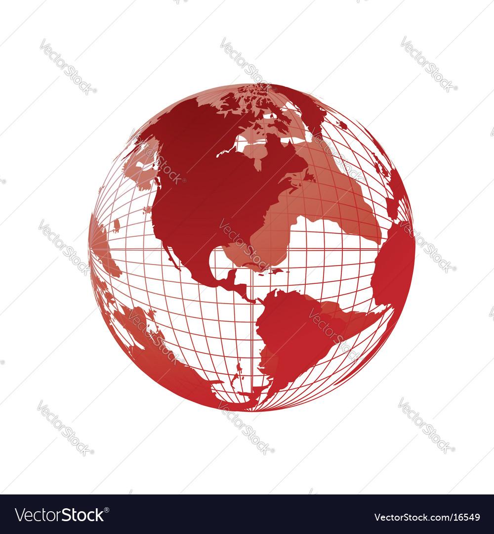 world map globe template. World Map Globe Vector