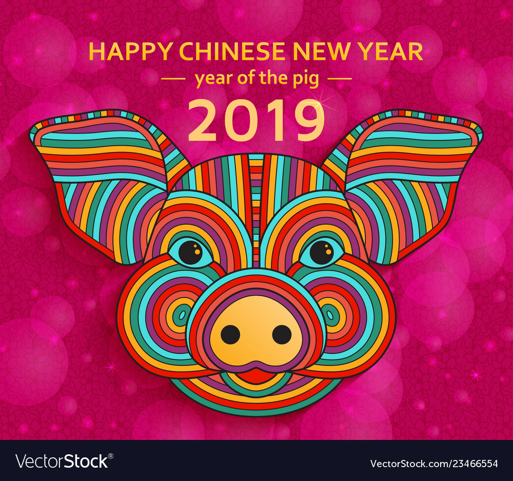 Chinese new year background with creative stylized