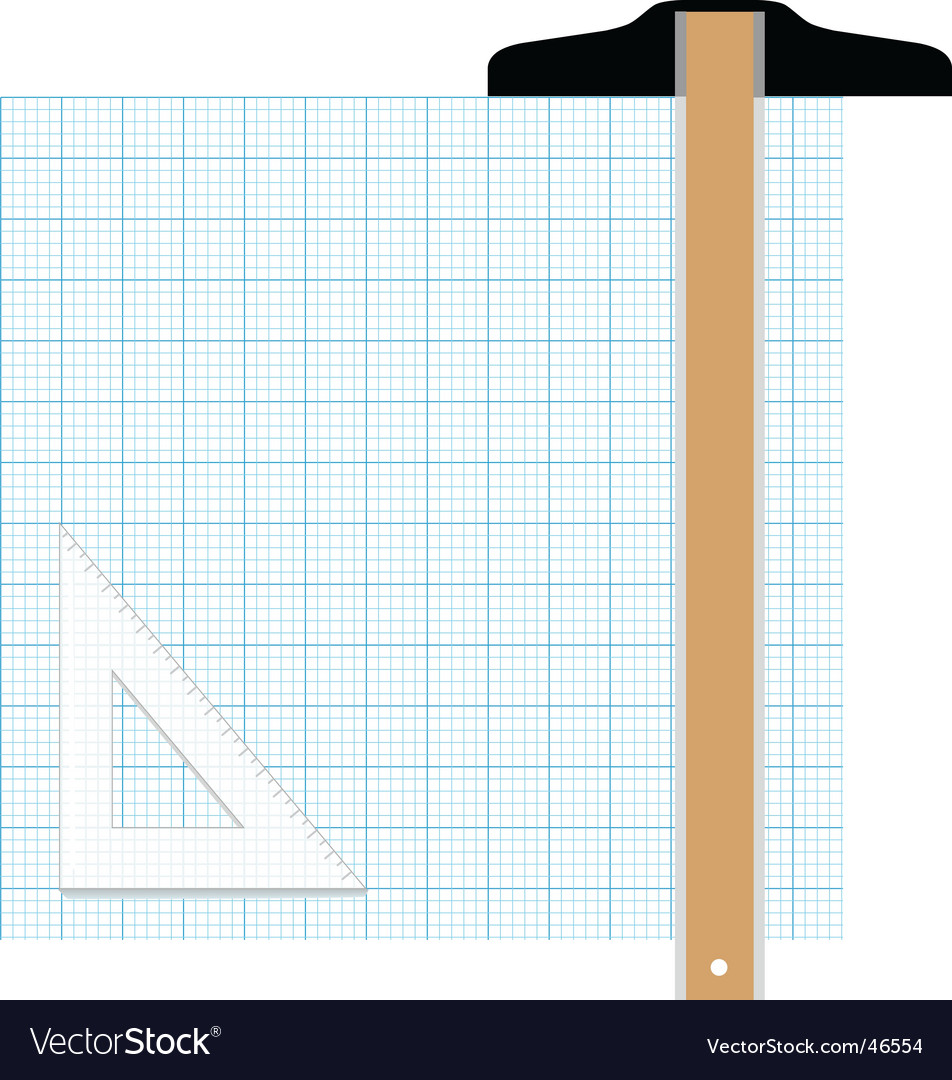 graph paper drafting tools draw royalty free vector image