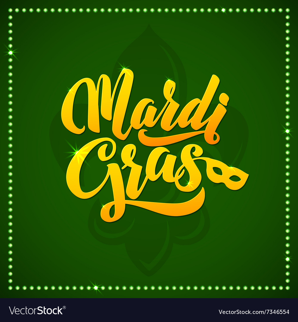 Mardi Gras Carnival Calligraphy Poster