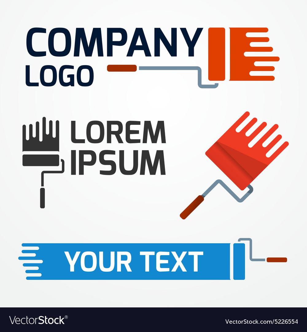 Paint roller logo