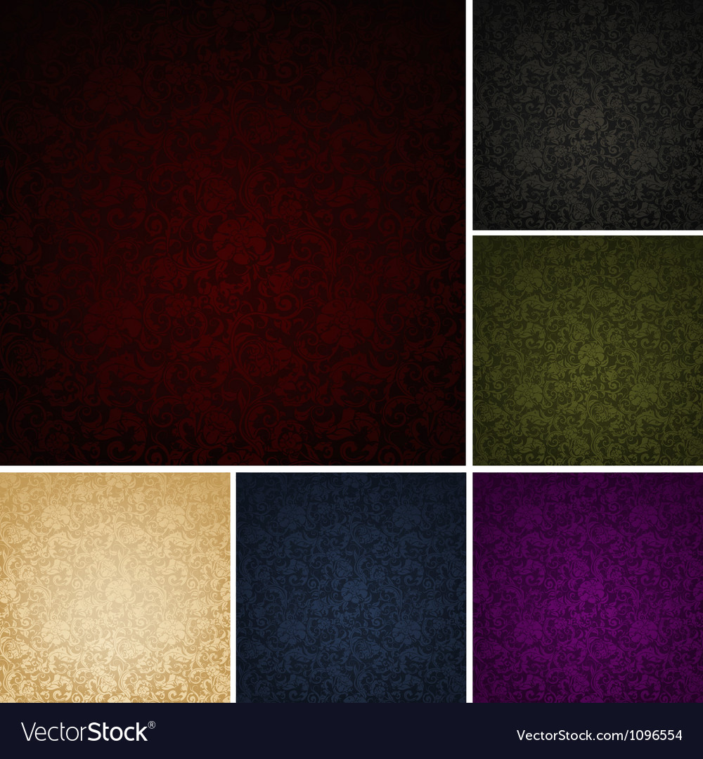 Seamless Wallpaper Pattern set of six colors