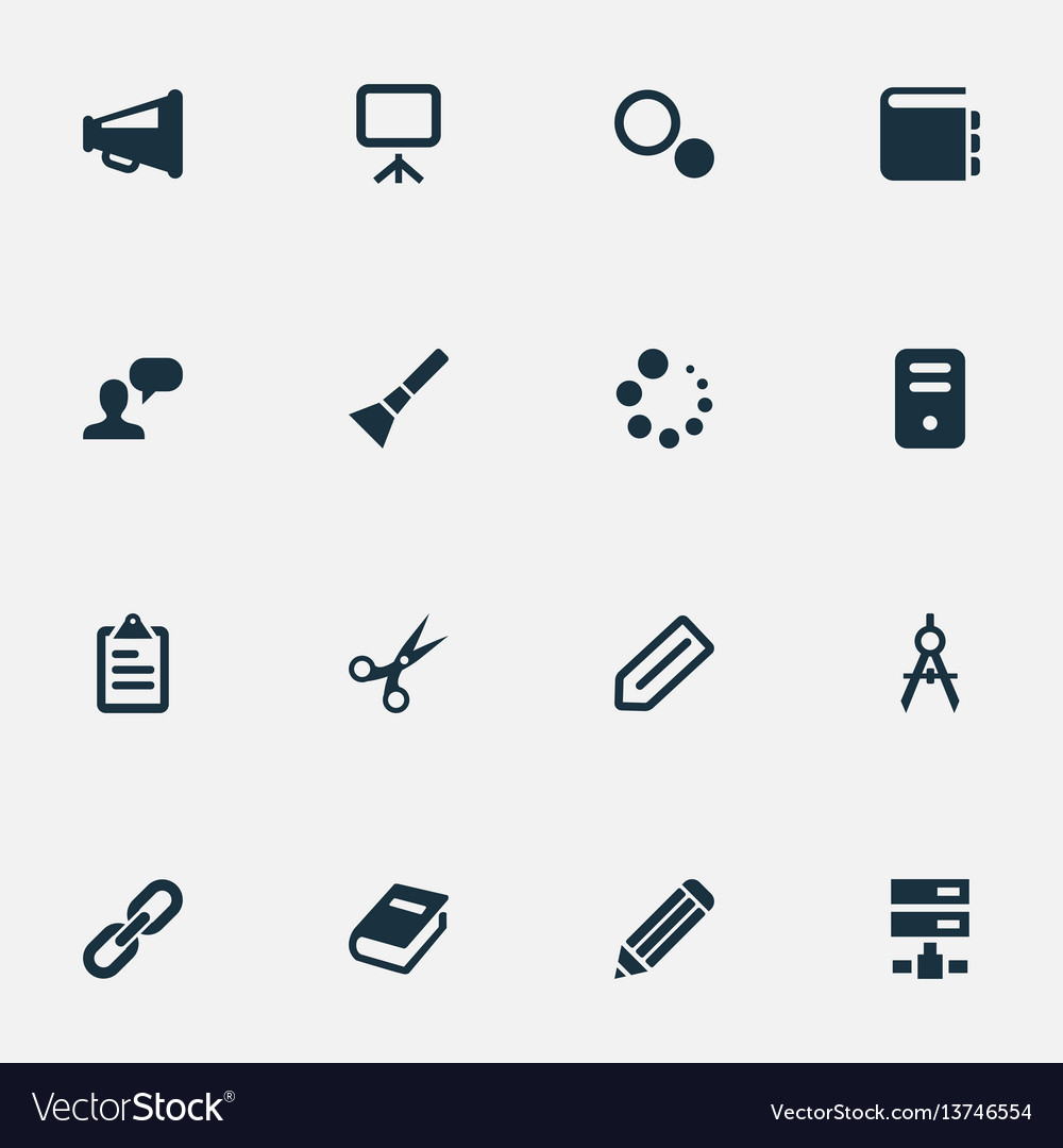 Set of simple design icons